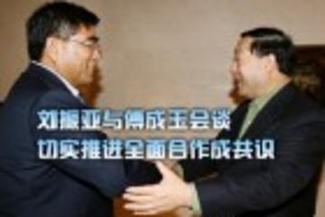 刘振亚与傅成玉会谈 切实推进全面合作成共识