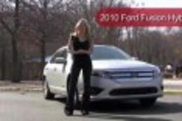 美女评测福特fusion混合动力