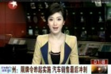 广州:限牌令昨起实施 汽车销售最后冲刺