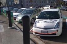 旧金山的电动汽车充电站