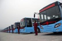 重庆五洲龙10台气电混合动力客车投入运营
