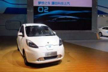 荣威E50纯电动汽车2013工博会现场热销