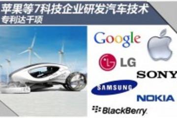 苹果等7科技企业研发汽车技术 专利达千项