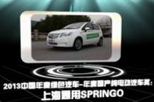2013中国年度绿色汽车年度国产纯电动汽车奖:上海通用Springo