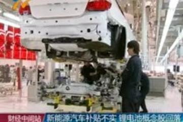 新能源汽车补贴不实 锂电池概念股回落