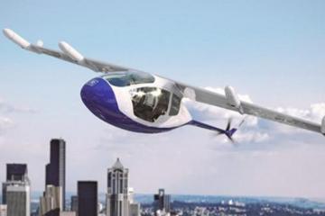 英国推出首个纯电动飞行的士,时速最高可达每小时80英里