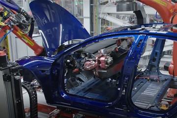 难产的特斯拉Model3是怎么组装的?30秒带你看懂