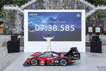 """张家界天门山,7分38.585秒,大众ID.R在""""魔鬼赛道""""上书写了""""魔鬼纪录"""""""