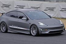 """""""不插电""""Model 3 筑波圈速险胜法拉利F40"""