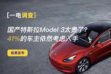 一电调查 | 国产特斯拉Model 3太贵了?41%的车主依然考虑入手