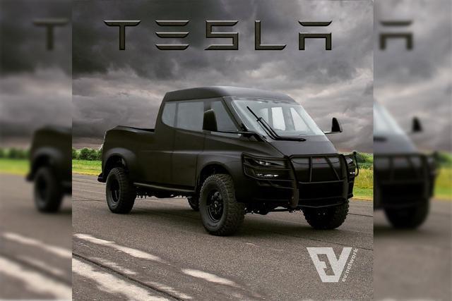 """特斯拉的猛汉皮卡假想图曝光,车企扎堆""""新能源怪物"""""""