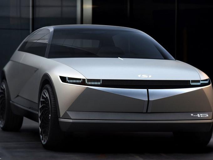现代新纯电跨界车曝光 造型科幻/年产能达7万台-图1