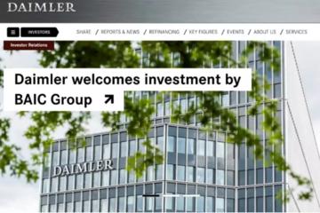 192亿,北汽入股奔驰母公司:戴姆勒背后的三个中国男人
