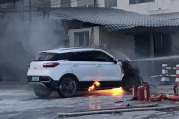 贵州一辆猎豹CS9EV电动汽车自燃 事件正在调查中