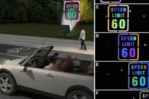 科学家研发变色路标 有助于提醒司机和行人