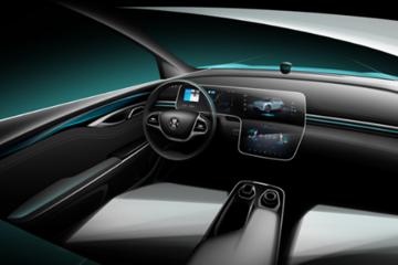 三屏联动设计瞩目 广汽蔚来合创SUV内饰设计图曝光