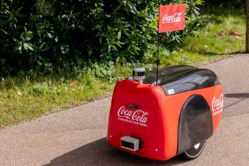 可口可乐在英国公园测试自动驾驶送货机器人 帮忙配送饮料