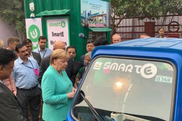 默克尔希望德国到2030年建立100万个电动汽车充电站