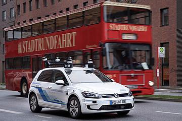 大众自动驾驶E-Golf城市测试,五年内量产