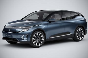 拜腾首款纯电SUV,未上市已获5万意向单,48英寸中控屏全球最大