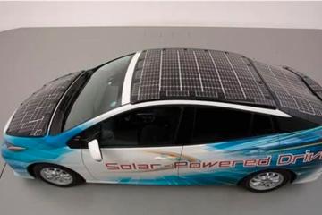 晒一天跑56公里 丰田普锐斯太阳能测试车充电效率高达34%