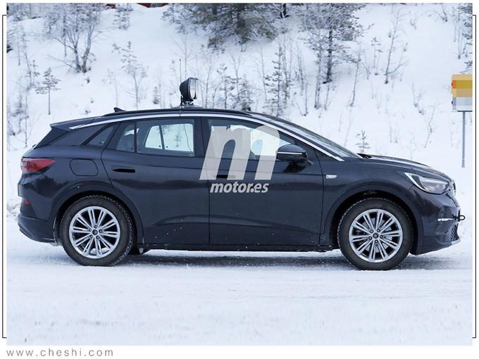 大众全新纯电跨界SUV谍照 续航550km明年开售-图4