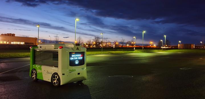 法雷奥携手美团推出全球首款电动无人配送原型车