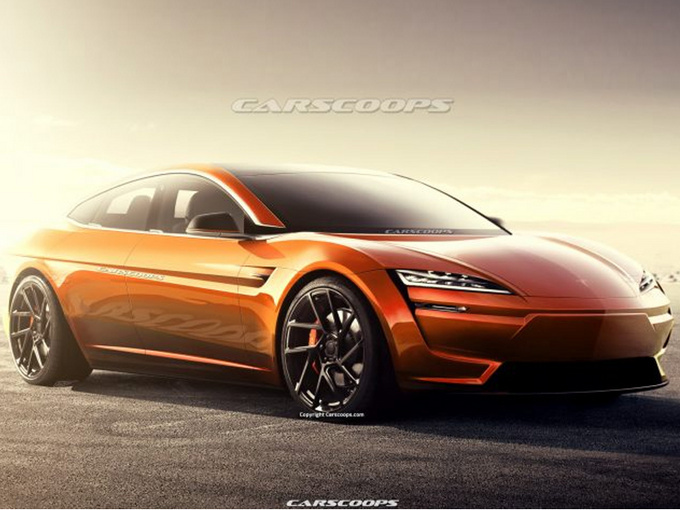 特斯拉全新Model S渲染圖造型更加運動前衛-圖1