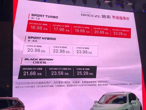 售16.98万-25.28万 广汽本田皓影正式上市