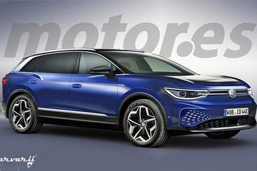 大众全新纯电跨界SUV谍照 续航550km明年开售