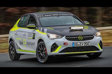 欧宝开始测试Corsa-e Rally电动拉力赛车