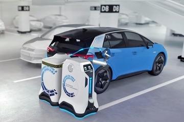 大众汽车推出充电管家新概念机器人