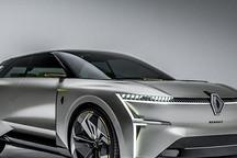 雷诺最新概念车 基于全新电动平台研发