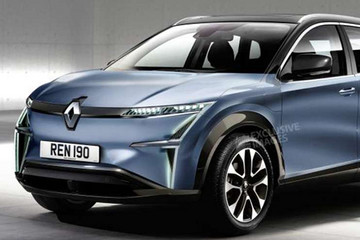 雷诺纯电动SUV效果图公布!基于CMF-EV平台打造