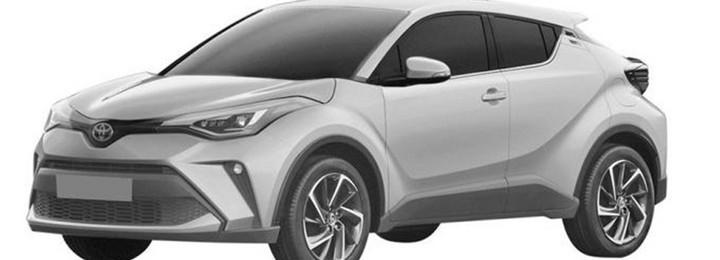 新款丰田C-HR专利图曝光!或采用混动系统