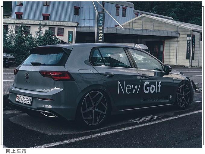 大众全新高尔夫实车街拍增轻混系统/内配大连屏-图3