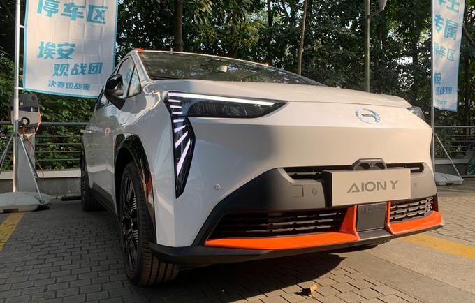 广汽埃安全新小型SUV街拍 造型足够科幻/4月上市-图1
