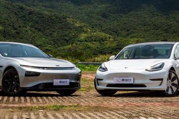 性能版之间的较量 对比测试小鹏 P7和Model 3