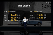 几何C正式上市售价12.98万-18.28万元 最高续航里程550km