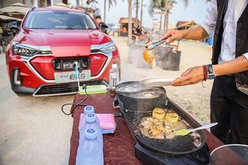 可外放电的纯电SUV推荐 开着电动车去野外吃火锅不香么?