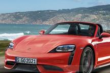 保时捷下一款纯电新车Boxster EV概念车 燃油版与纯电版并存