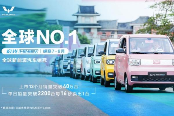 9月宏光MINIEV零售35169辆 连续13个月居中国新能源市场销冠