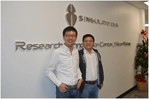 (左)CEO沈海寅(右)美研总裁及首席科学家,黄浴博士