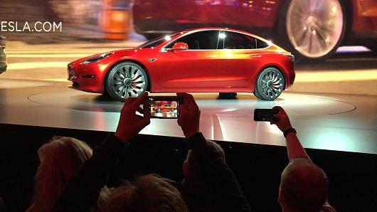 豪车品牌电动车,电动车细分化,特斯拉Model 3