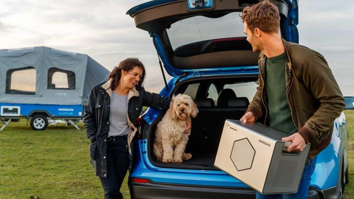 电动汽车,电池,日产Roam设备,日产二次利用电动汽车电池,日产便携式电源,日产露营车,汽车新技术