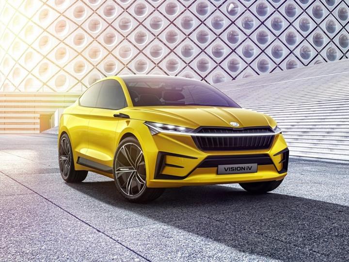 纯电动概念车VISION iV 斯柯达上海车展阵容曝光