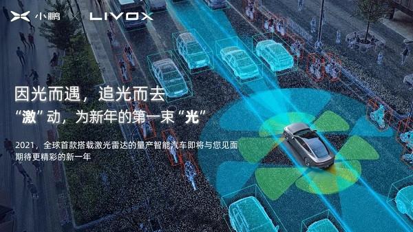 Livox为小鹏2021新车生产定制版激光雷达,图片来源:小鹏