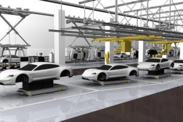 保时捷电动车首批样车基本成型 生产线今年就绪