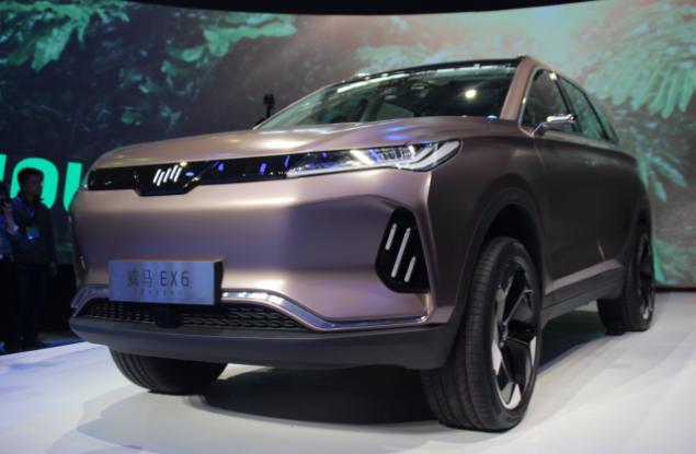 威马第二款车型EX6 Concept首亮相,EX5收获5143台实时订单