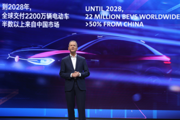 大众2028年前计划生产2200万辆纯电动汽车 半数以上在中国